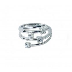 Fossil JF11574040 Ring Damen Sterling Silber Zirkonia Gr. 17 (53)