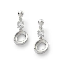 Fossil JF14815040 Ohrringe Ohrhänger Damen Sterling Silber