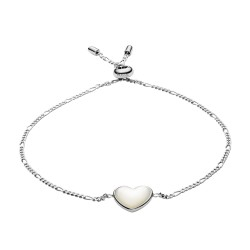 Fossil JFS00443040 Armband Heart Mother Of Perl Silber