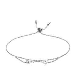 Fossil JFS00446040 Armband Damen Sterling Silber Geometric Weiss