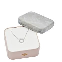 Fossil JFS00450040 Kette Anhänger Damen Textured Beads Sterling-Silber 40,5 cm