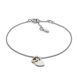Fossil JFS00455998 Armband Damen Duo Heart Gold-Silber-Ton