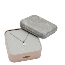Fossil JFS00456998 Kette mit Anhänger Duo Heart Gold-Silber-Ton