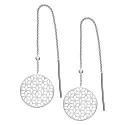 Fossil JFS00460040 Ohrringe Damen Floral Sterling-Silber