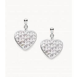 Fossil JFS00489040 Ohrstecker Damen Cutout Heart Silber