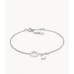 Fossil JFS00496040 Armband Damen Sterling-Silber Rose Quartz