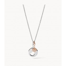 Fossil JFS00498998 Halskette mit Anhänger Duo Hearts Sterling-Silber