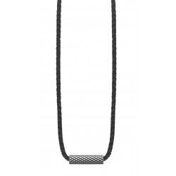 JOOP! JPNL10608A470 Kette mit Anhänger Woven Leder Edelstahl 47 cm