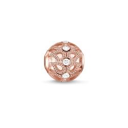 Thomas Sabo K0146-416-14 Bead Charm Damen Tautropfen Silber Rosé-Ton
