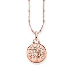 Thomas Sabo KE1831-415-40 Kette Medaillon Tree Of Love Rosé-Ton Silber
