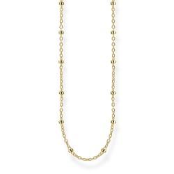 Thomas Sabo KE1890-413-39 Kette Damen Erbskette Silber Gold-Ton