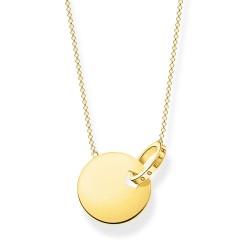 Thomas Sabo KE1947-413-39 Halskette mit Anhänger Together Coin mit Ring Gelb-Gold