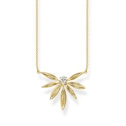 Thomas Sabo KE1949-414-14 Halskette-Anhänger Blätter Silber Vergoldet