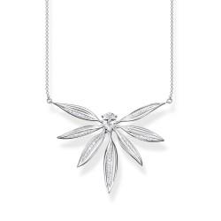 Thomas Sabo KE1950-051-14 Halskette mit Anhänger Damen Blätter Groß Silber