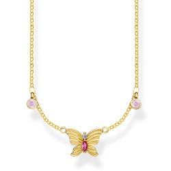 Thomas Sabo KE1951-488-7 Halskette Anhänger Schmetterling Gold Vergoldet