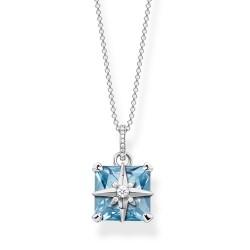 Thomas Sabo KE1953-644-31 Halskette mit Anhänger Blauer Stein Stern Silber