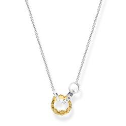 Thomas Sabo KE1987-849-7 Halskette Anhänger Damen Krone Silber Vergoldet