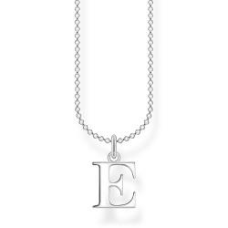 Thomas Sabo KE2014-001-21 Halskette mit Anhänger Buchstabe E Sterling-Silber
