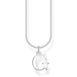 Thomas Sabo KE2016-001-21 Halskette mit Anhänger Buchstabe G Sterling-Silber