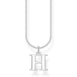 Thomas Sabo KE2017-001-21 Halskette mit Anhänger Buchstabe H Sterling-Silber