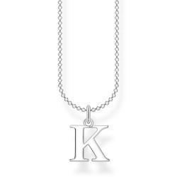 Thomas Sabo KE2020-001-21 Halskette mit Anhänger Buchstabe K Sterling-Silber
