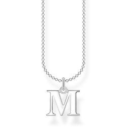 Thomas Sabo KE2022-001-21 Halskette mit Anhänger Buchstabe M Sterling-Silber