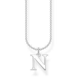Thomas Sabo KE2023-001-21 Halskette mit Anhänger Buchstabe N Sterling-Silber