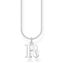 Thomas Sabo KE2027-001-21 Halskette mit Anhänger Buchstabe R Sterling-Silber