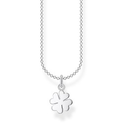 Thomas Sabo KE2037-001-21 Halskette mit Anhänger Kleeblatt Silber 45 cm