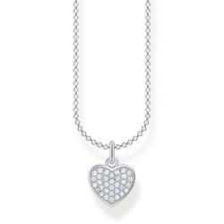 Thomas Sabo KE2046-051-14 Halskette mit Anhänger Herz Pavé Silber