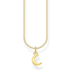 Thomas Sabo KE2051-413-39 Halskette mit Anhänger Mond Silber Vergoldet