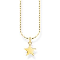 Tomas Sabo KE2053-413-39 Halskette mit Anhänger Stern Vergoldet