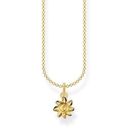 Thomas Sabo KE2058-413-39 Halskette mit Anhänger Sonne Silber Vergoldet