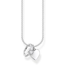 Thomas Sabo KE2064-051-14 Halsketten mit Anhänger Ring mit Herz Silber