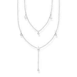 Thomas Sabo KE2070-051-14 Halskette Collier Doppel Weiße Steine Silber
