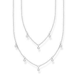 Thomas Sabo KE2072-051-14 Doppel-Halskette Damen Weisse Steine Silber