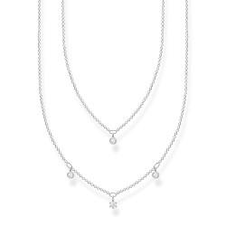 Thomas Sabo KE2078-051-14 Halskette Damen Doppel Weiße Steine Silber