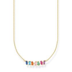 Thomas Sabo KE2095-488-7 Halskette Anhänger Bunte Steine Silber Vergoldet