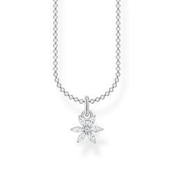 Thomas Sabo KE2103-051-14 Halskette mit Anhänger Blume Weiße Steine