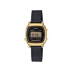 Casio LA670WEMB-1EF Unisex-Uhr Vintage Mini Quarz Milanaise-Armband