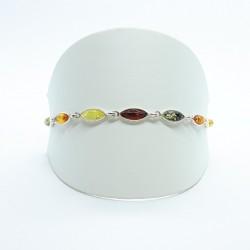 Ostsee Bernstein LAS195220 Armband Damen Sterling-Silber 19 cm