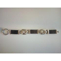 Thomas Sabo LB10-1-413 Glieder-Armband Leder Ringverschluss Silber