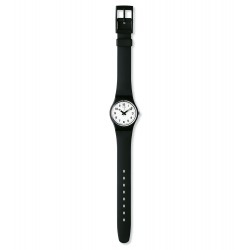 Swatch LB153 Damen-Uhr Something New Silikon Schwarz Ø 25 mm