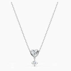 Swarovski 5517928 Halskette mit Anhänger Damen Lifelong Heart Weiss Silber-Ton
