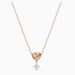 Swarovski 5516542 Halskette mit Anhänger Damen Lifelong Heart Rosé Vergoldet