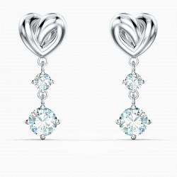 Swarovski 5517943 Ohrringe Ohrhänger Damen Lifelong Heart Weiss Silber-Ton