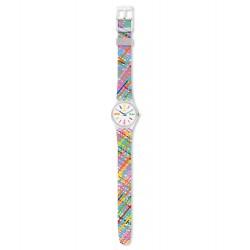 Swatch LK389 Armband-Uhr Tadelakt Analog Quarz mit Silikon-Band