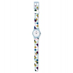 Swatch LL120 Damen-Uhr Arle-Queen Worldhood Silikon Ø 25 mm