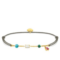 Thomas Sabo LS080-995-7 Armband Little Secret Farbige Steine Gold-Ton