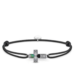 Thomas Sabo Rebel LS083-482-11 Armband Little Secret Kreuz Abalone Perlmutt Silber 27 cm